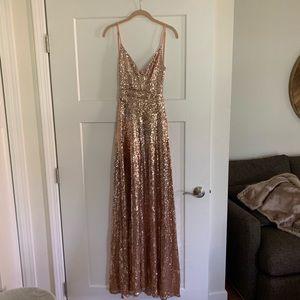 Lulu's Gold Sequin Dress